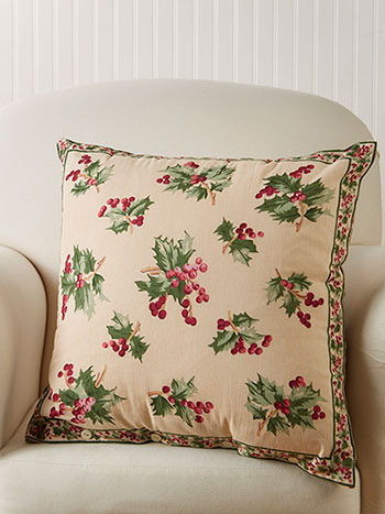 Holly Berry Cushion Cover
