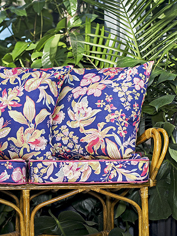 Orchid Study Outdoor Cushion w/ Filler