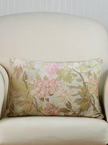 Tea Garden Velvet Cushion
