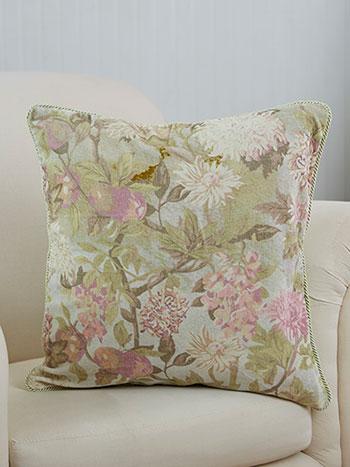 Tea Garden Velvet Cushion Cover
