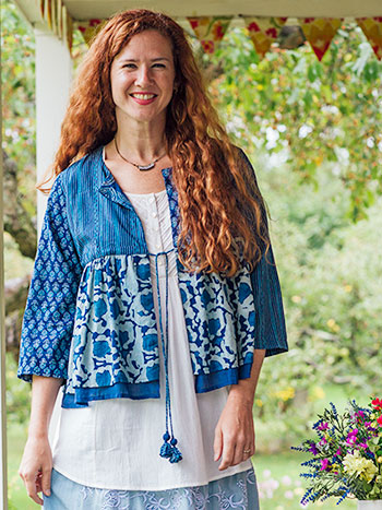 Indigo Patchwork Cover Up
