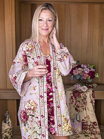 Hydrangea Dream Honeycomb Kimono