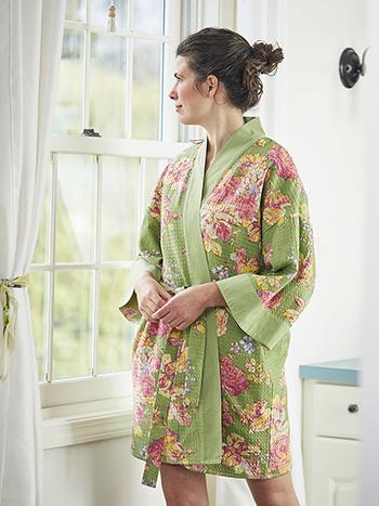 Victorian Rose Honeycomb Kimono