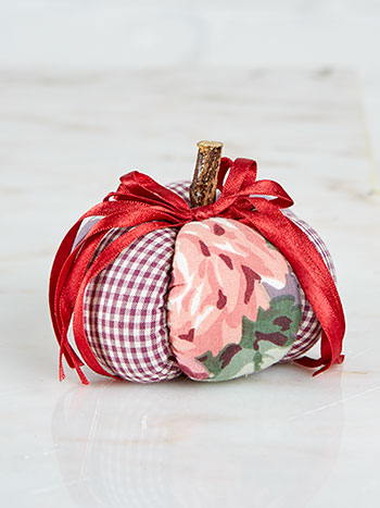 Cottage Rose Pumpkin Pin Cushion