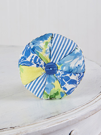 Fairground Patchwork Pinwheel Cushion
