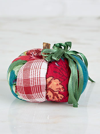 Jewel Patchwork Pumpkin Pin Cushion