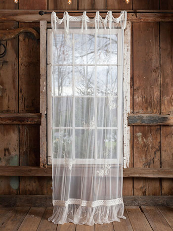 Angelic Emb Net Curtain