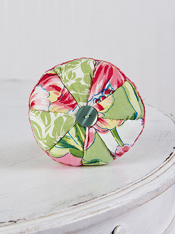 Spring Bouquet Patchwork Pinwheel Cushion