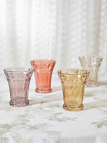 Depression Era Juice Glasses Set of 4