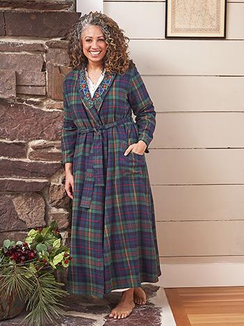 Highland Plaid Dressing Gown