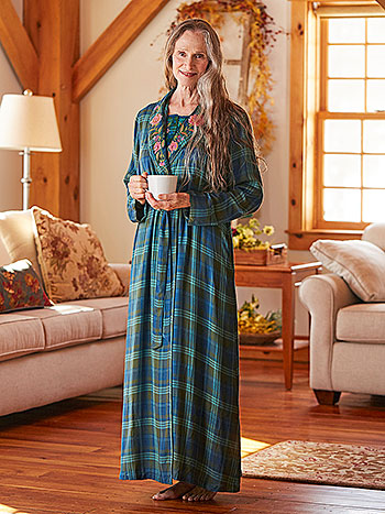 Pine Plaid Dressing Gown