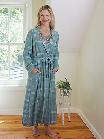 Riverside Plaid Dressing Gown