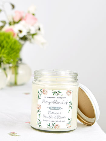 Peony & Olive Leaf Soy Candle