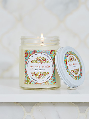 Peony & Olive Soy Jar Candle