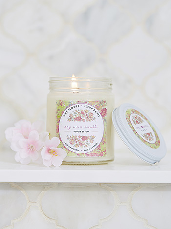 Rice Flower Soy Jar Candle