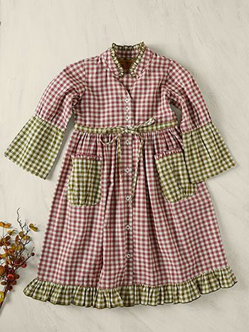 Carolina Check Girls Dress