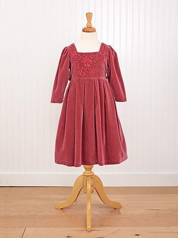 Victorian Velvet Girls Dress