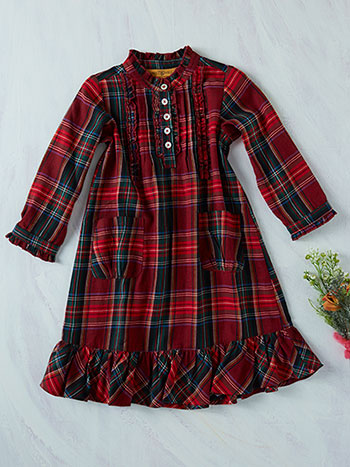 Carole Plaid Girls Dress