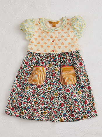 Anna Patchwork Girls Dress
