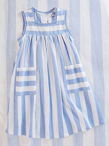 Nantucket Stripe Girls Dress