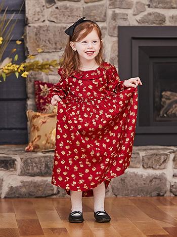 Ruby Jacquard Girls Dress