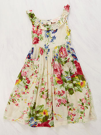 Cottage Rose Girls Dress