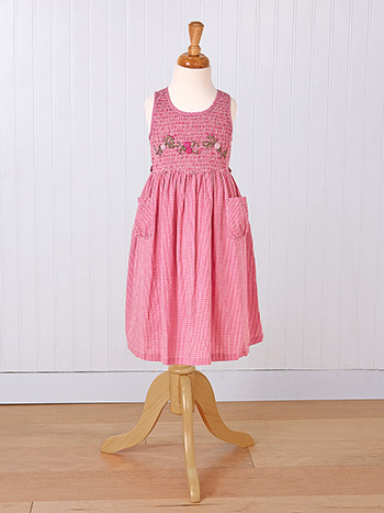 Berry Check Girls Dress