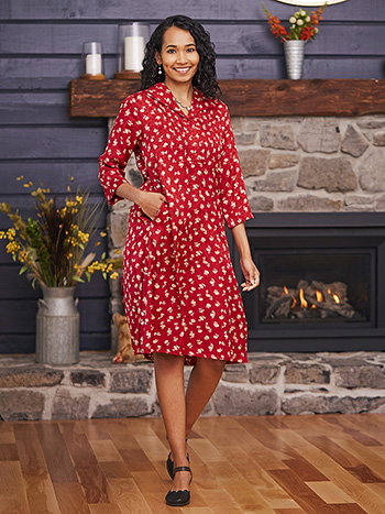 Ruby Jacquard Tea Dress