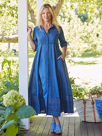 Indigo Governess Dress