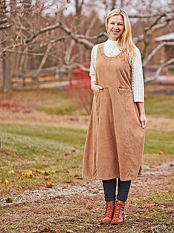 Emily Sunwashed Pinafore