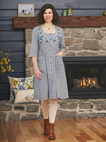 Tanya Gingham Dress
