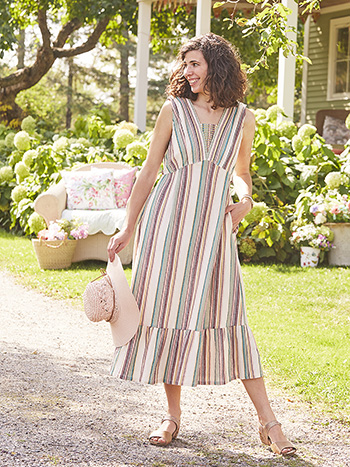 Santa Fe Stripe Dress