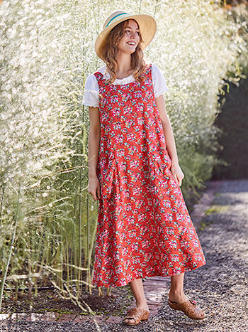 Elizabeth's Garden Pinafore Dress