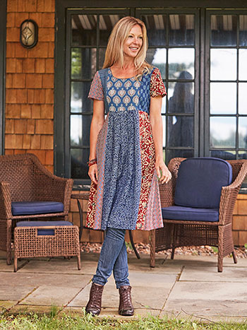 Market Bohemian Patchwork Dress