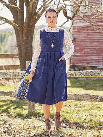 Austin Corduroy Pinafore Dress