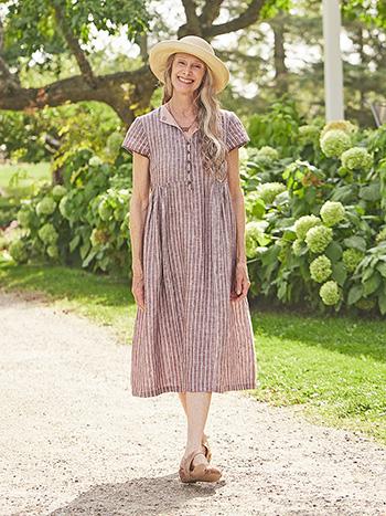 Cocoa Linen Dress