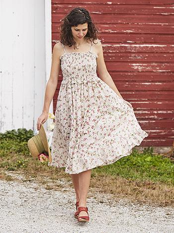 Strawberry Blossom Smocked Dress