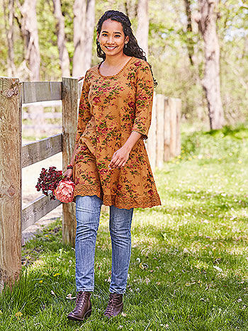 Ochre Rose Tunic Dress