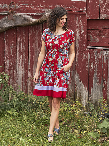 Fairground Rose Short Dress