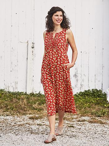 Janey Twist Pleat Dress