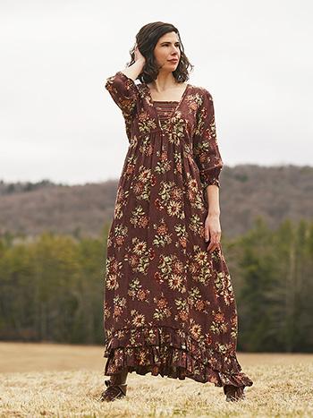 Dahlia Jacquard Prairie Dress