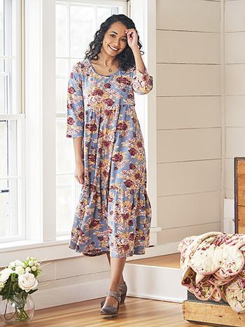 Rose Manor Jersey Prairie Dress