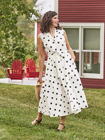 Sadie Dot Shirtwaist Dress
