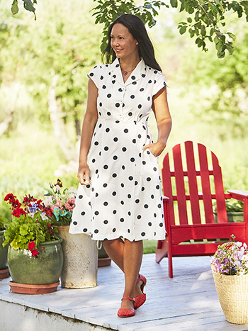 Sadie Dot Porch Dress