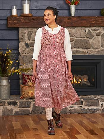 Winterberry Pinafore Dress