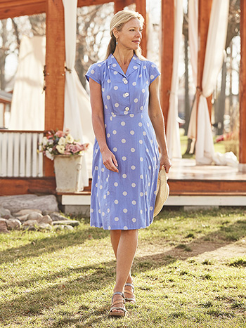 Provence Dot Porch Dress