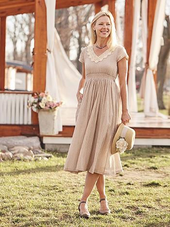 Cottage Check Sunday Dress