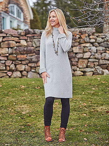 Smoky Day Sweater Dress