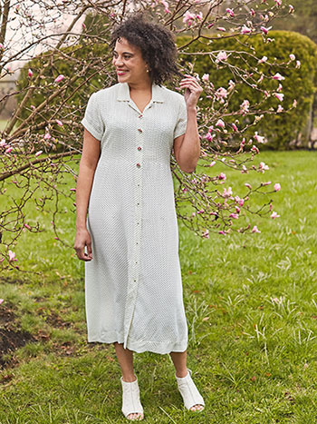 Penny Pin Dot Shirt Dress