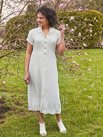 Penny Pin Dot Shirt Dress